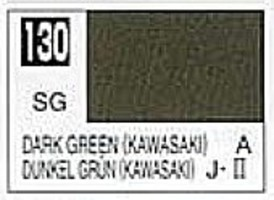 Gunze-Sangyo Solvent-Based Acrylic Semi-Gloss Dark Green Kawasaki 10ml Bottle (6/Bx)
