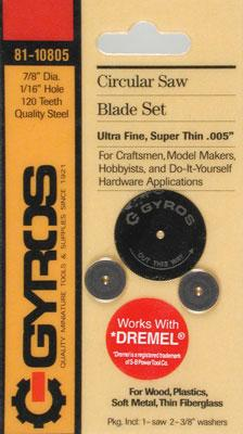 Gyros Products Co Fine Blade 1/16'' Hole