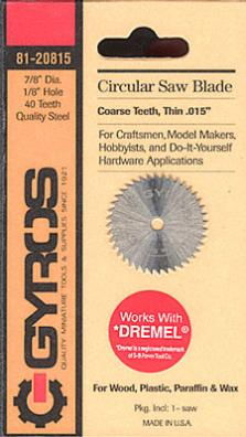 Gyros Products Co Coarse Circular 7/8'' Blade 1/8'' Hole