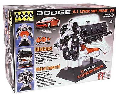Hawk Models Dodge 6.1 Liter SRT Hemi V8 -- Diecast Model Engine Kit -- 1/6 Scale -- #11071