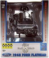 Hawk-Models 1948 Ford Flat Head V-8 Engine Pre Built Metal Body Plastic Model Engine 1/6 Scale #11082