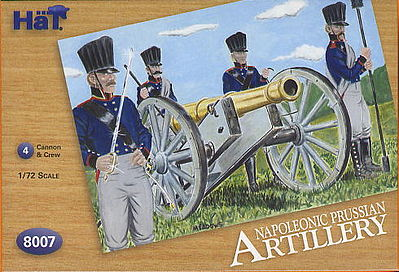 Hat Industries Figures Prussian Artillery -- 1/72 Scale Plastic Model Military Figure -- #8007
