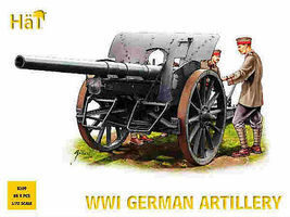 Hat WWI German Artillery Plastic Model Weapon Kit 1/72 Scale #8109