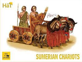 Hat Sumerian Chariots Plastic Model Military Vehicle Kit 1/72 Scale #8130