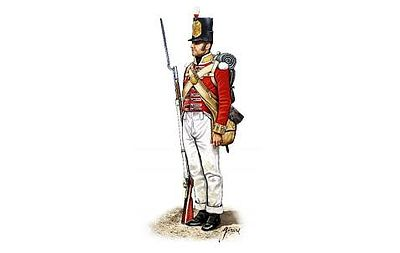 Hat Industries Figures Peninsular War British Infantry -- Plastic Model Military Figure Set -- 1/72 Scale -- #8186