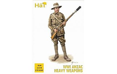 Hat Industries Figures Anzac Heavy Infantry -- Plastic Model Military Figure Set -- 1/72 Scale -- #8190