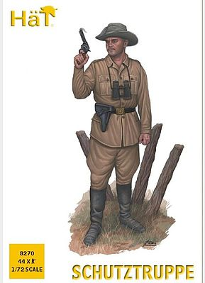 Hat Industries Figures WW-I Schutztruppe -- Plastic Model Military Figure -- 1/72 Scale -- #8270