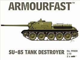 Hat Russian SU-85 Tank Destroyer Plastic Model Military Vehicle Kit #99020