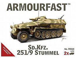 Hat Stummel Sd.Kfz.251/9 Plastic Model Military Vehicle Kit 1/72 Scale #99032