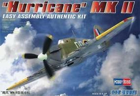 HobbyBoss Easy Build Hurricane MKII Plastic Model Airplane Kit 1/72 Scale #80215