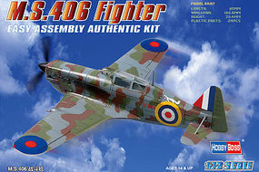 HobbyBoss MS.406 French Fighter Plastic Model Aircraft Kit 1/72 Scale #80235