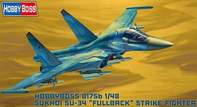HobbyBoss Russian SU-34 Fullback Plastic Model Airplane Kit 1/48 Scale #81756