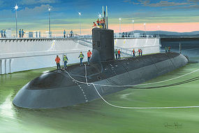 HobbyBoss USS Virginia SSN-774 Submarine Plastic Model Military Ship Kit 1/350 Scale #83513