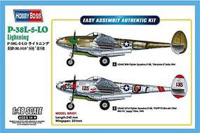 HobbyBoss P-38L-5-LO Lightning Plastic Model Airplane Kit 1/48 Scale #85805