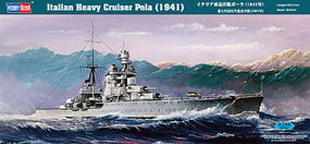 HobbyBoss Italian Heavy Crusier Pola Plastic Model Military Ship Kit 1/350 Scale #86502