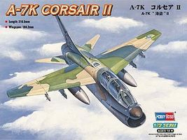 HobbyBoss A-7K Corsair II Plastic Model Airplane Kit 1/72 Scale #87212