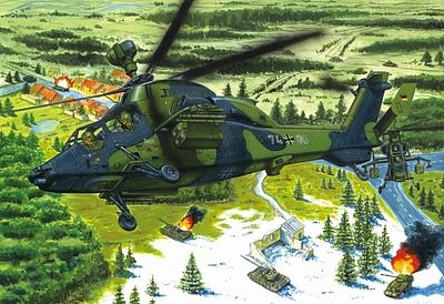 Hobby Boss Eurocopter EC-655 Tiger UHT German -- Plastic Model Helicopter Kit -- 1/72 Scale -- #87214