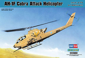 HobbyBoss AH-1F Cobra Attack Helicopter Plastic Model Helicopter Kit 1/72 Scale #87224