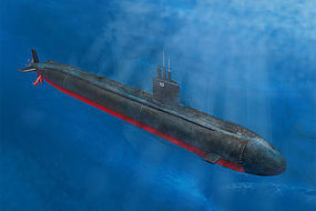 HobbyBoss USS Los Angeles Class Submarine Plastic Model Military Ship Kit 1/350 Scale #hy83530