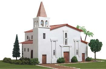 Hobbico California Mission Santa Clara De Asis -- Mission Project Building Kit -- #y9040