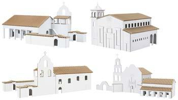 Hobbico Kit 2- San Diego/La Purisima/Santa Clara de Asis -- Mission Project Building Kit -- #y9062