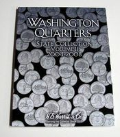 HE-Harris Vol.2, 2004 thru 2008 Washington State Quarters Coin Folder Coin Collecting Book #2581