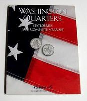 HE-Harris 1999 Complete Year Washington State Quarters Coin Folder (D) Coin Collecting Book #2582