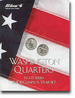 HE-Harris 2008 Complete Year Washington State Quarters Coin Folder Coin Collecting Book #2591