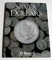 HE-Harris Silver Dollar Plain Coin Folder Coin Collecting Book and Supply #2665