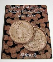 HE-Harris Flying Eagle/Indian Head Cent 1857-1909 Coin Folder Coin Collecting Book and Supply #2671