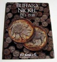 HE-Harris Buffalo Nickel 1913-1938 Coin Folder Coin Collecting Book and Supply #2678