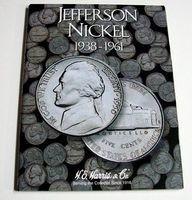 HE-Harris Jefferson Nickel 1938-1961 Coin Folder Coin Collecting Book and Supply #2679