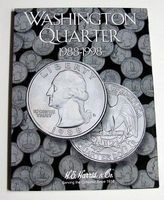 HE-Harris Washington Quarter 1988-1998 Coin Folder Coin Collecting Book and Supply #2691