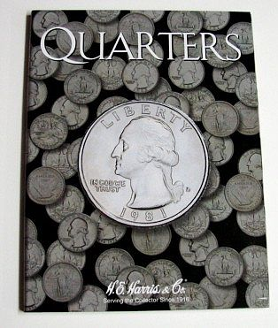 H.E. Harris Quarters Plain Coin Folder -- Coin Collecting Book and Supply -- #2692
