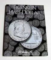 HE-Harris Franklin Half Dollar 1948-1963 Coin Folder Coin Collecting Book and Supply #2695
