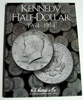 HE-Harris Kennedy Half Dollar 1964-1984 Coin Folder Coin Collecting Book and Supply #2696