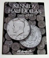HE-Harris Kennedy Half Dollar 1985-1999 Coin Folder Coin Collecting Book and Supply #2697