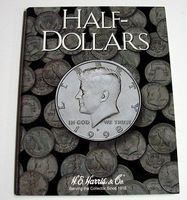 HE-Harris Half Dollar Plain Coin Folder Coin Collecting Book and Supply #2698