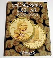 HE-Harris The Sacagawea Dollar 2000-2004 Coin Folder Coin Collecting Book and Supply #2715