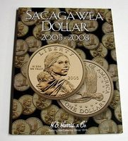 HE-Harris The Sacagawea Dollar 2005-2008 Coin Folder Coin Collecting Book and Supply #2943