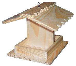 Hobby Express Bird Feeder Kit with PD Holes -- Wooden Bird House Kit -- #60001pd