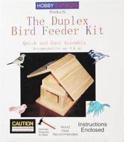 Hobby-Express Dplx Bird Feeder Kit with PD Holes Wooden Bird House Kit #60003pd