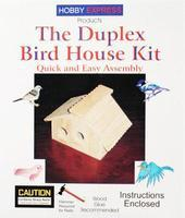 Hobby-Express Duplex Birdhouse Kit with PD Holes Wooden Bird House Kit #60004pd