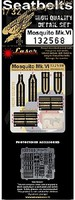 HGW-Models 1/32 Mosquito Mk VI Seatbelts for TAM (Fabric/Photo-Etch Buckles)