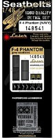 HGW-Models 1/48 Phantom Navy Seatbelts for ACY, EDU (Plastic/Photo-Etch Buckles)