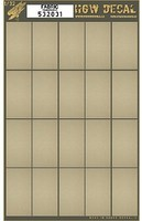 HGW-Models 1/32 Canvas Fabric-Type w/Transparent Base, 20-segments 60mmx32mm (7x10) (Decals)