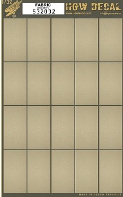 HGW Models 1/32 Canvas Fabric-Type w/White Base, 20-segments 60mmx32mm (7''x10'') (Decals)