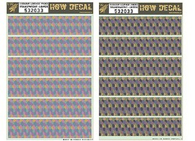 HGW-Models 1/32 5-Color Lozenge Upper & Lower, Faded Fabric-Type w/Transparent Base (2 7x10) (Decals)