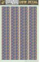 HGW-Models 1/32 5-Color Lozenge Lower, Faded Canvas Fabric-Type w/Transparent Base (7x10) (Decals)