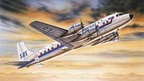 Heller DC6B Super Cloudmaster Aircraft Plastic Model Airplane Kit 1/72 Scale #80315